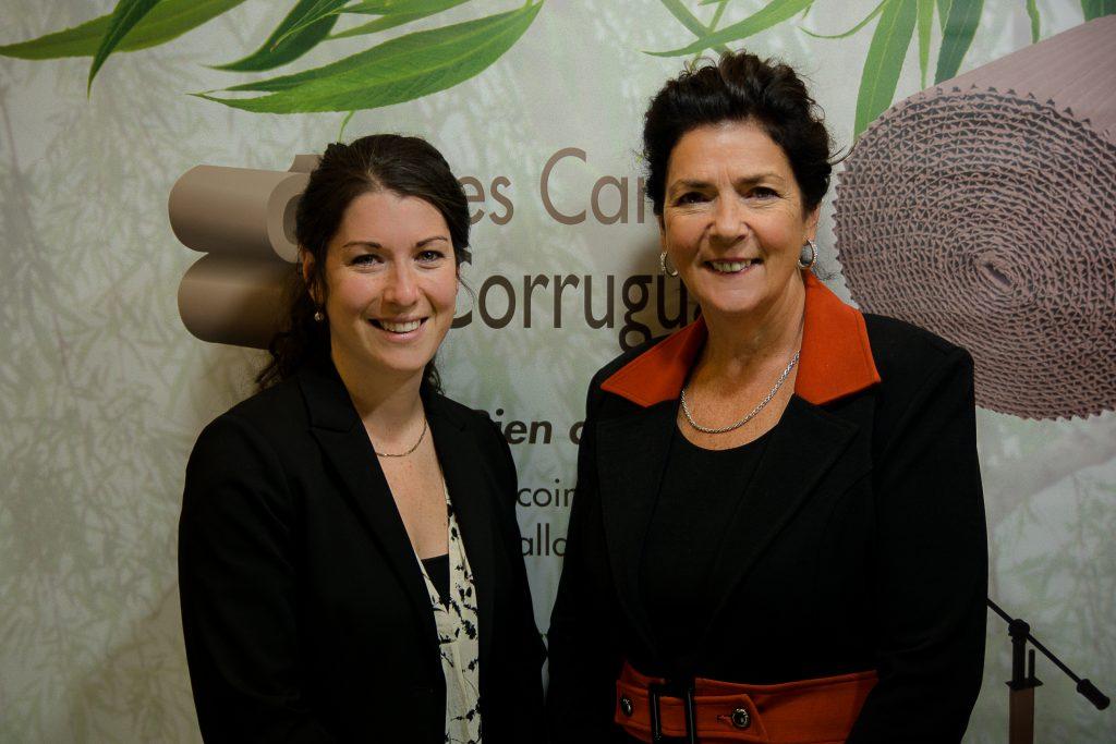 Marie-Hélène Hotte, PDG/CEO & Diane Latendresse, Fondatrice/Founder Cartons Corruguard